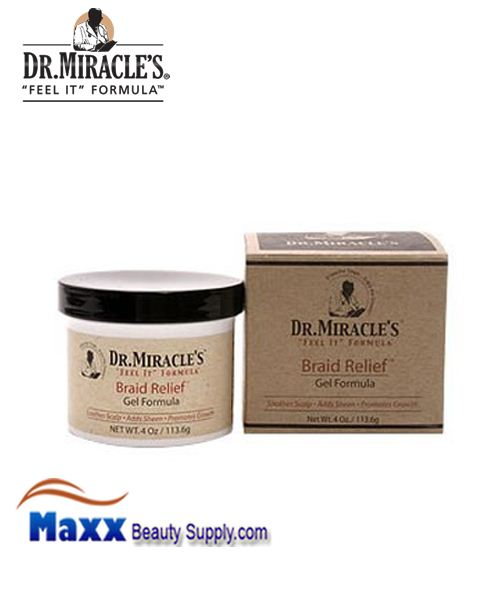 Dr Miracle's Braid Relief Gel Formula 4oz Jar