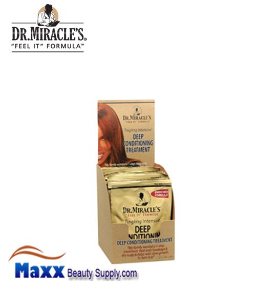 Dr Miracle's Deep Conditioning Treatment Pack 1.75oz - Regular Display(1DZ)