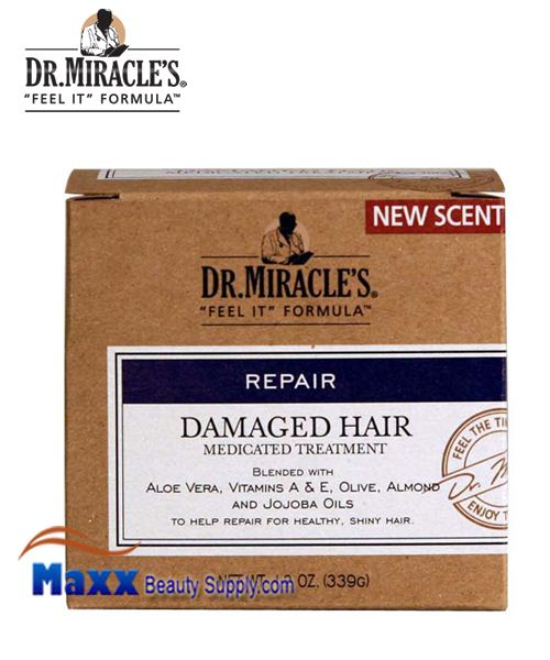 Dr Miracle's Damaged Hair Medicated Treatment 12oz Jar