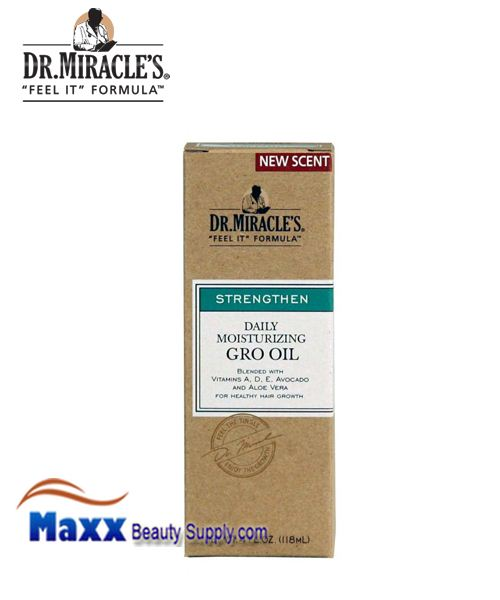 Dr Miracle's Strengthen Daily Moisturizing Gro Oil 4oz