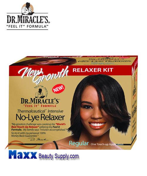 Dr Miracle's No Lye New Growth Relaxer Kit - Regular (1 Touch up)
