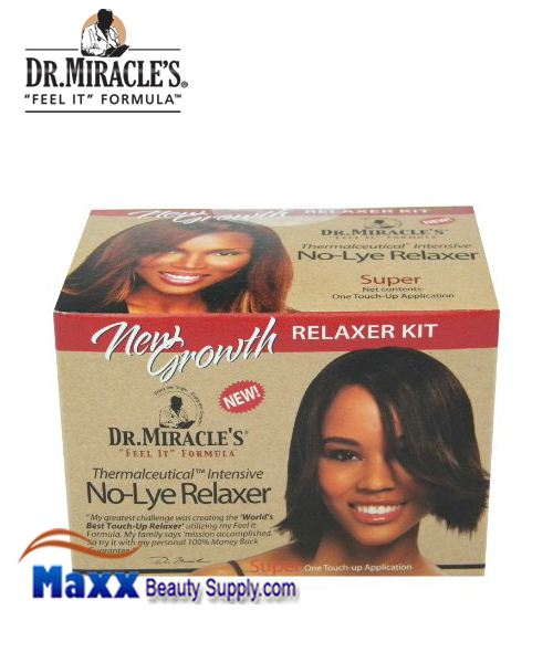 Dr Miracle's No Lye New Growth Relaxer Kit - Super (1 Touch up)