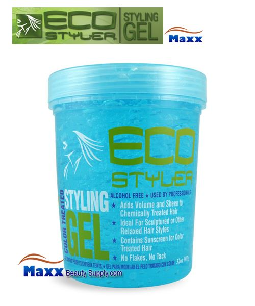 Eco Styler Styling Gel For Color Treated Hair 32oz - Blue Jar