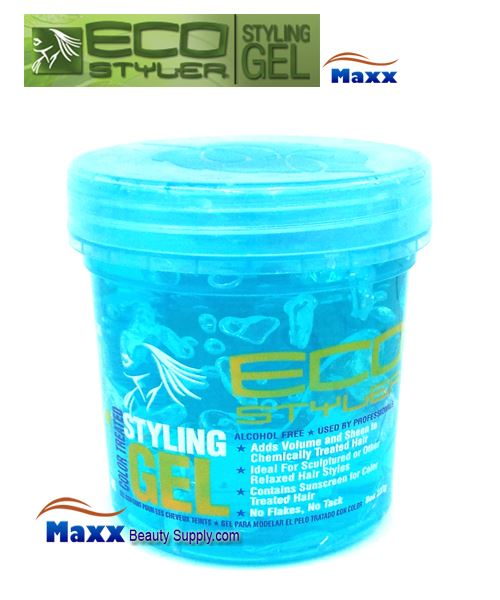 Eco Styler Styling Gel For Color Treated Hair 08oz - Blue Jar