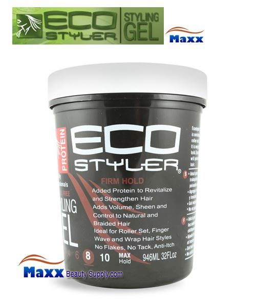 Eco Styler Styling Gel Protein 32oz - White Lid Jar