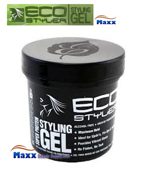 Eco Styler Styling Gel Super Protein 16oz - Black Lid Jar