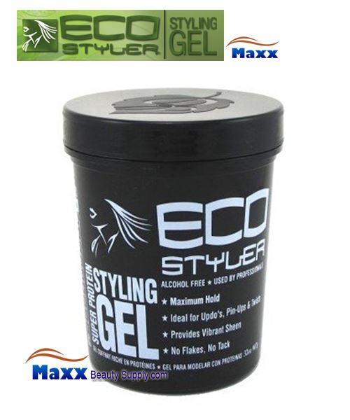 Eco Styler Styling Gel Super Protein 32oz - Black Lid Jar