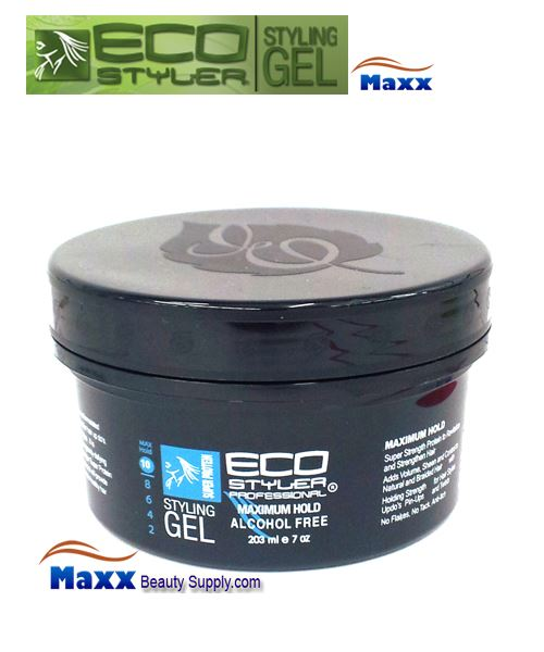 Eco Styler Styling Gel Super Protein 07oz - Black Lid Jar