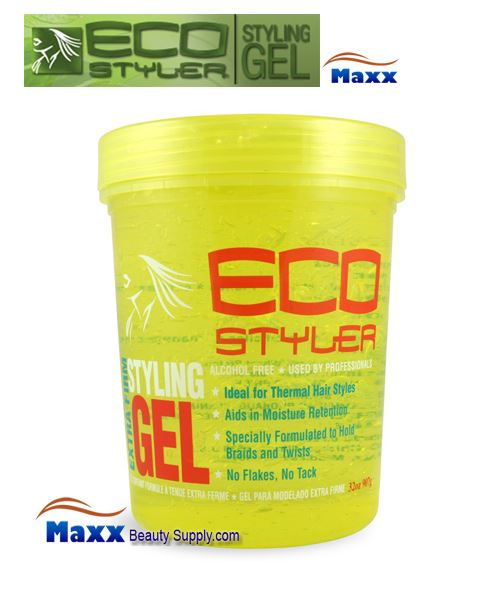 Eco Styler Styling Gel Extra Firm 32oz - Yellow Jar