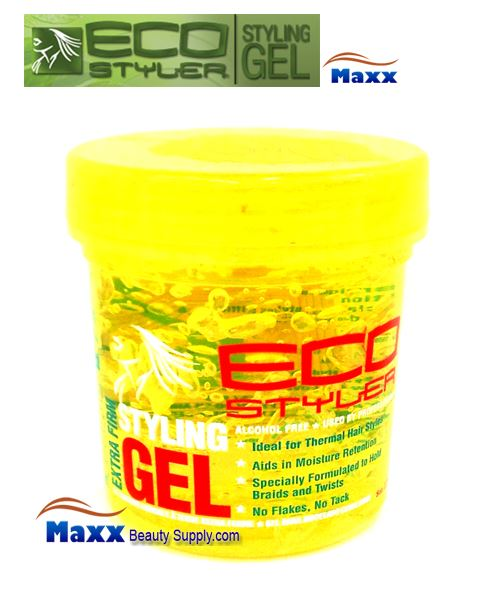 Eco Styler Styling Gel Extra Firm 08oz - Yellow Jar