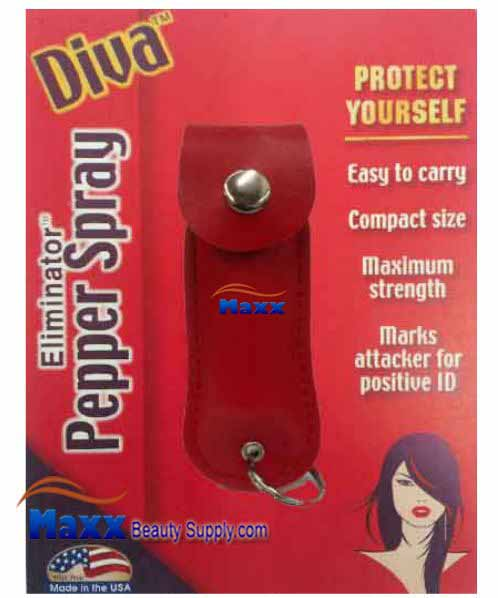 Diva Eliminator protect yourself Pepper Spray - Red Cover