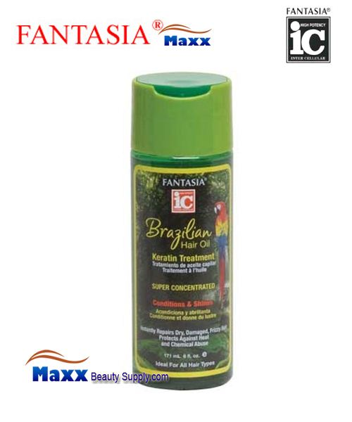 Fantasia IC Brazilian Hair Oil Keratin Treatment Conditions & Shine 6oz - Bottle