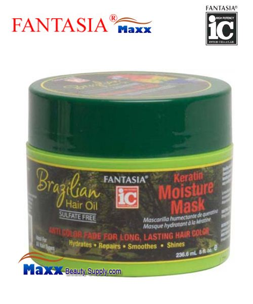 Fantasia IC Brazilian Hair Oil Keratin Moisture Mask 8oz - Jar
