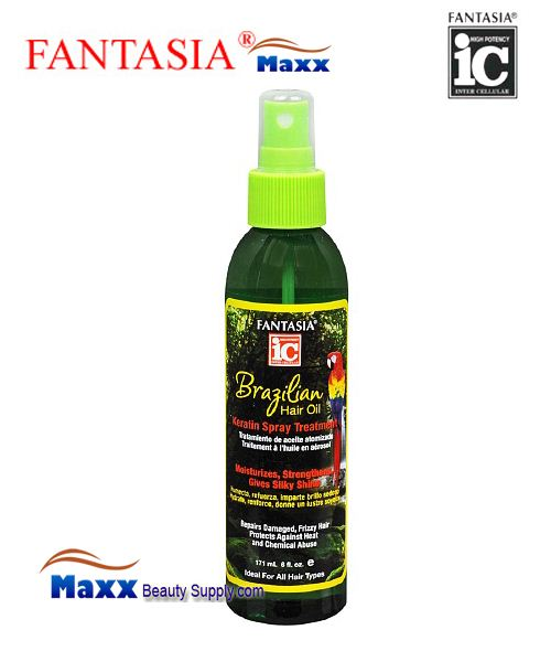 Fantasia IC Brazilian Hair Oil Keratin Spray Treatment 6oz - Spray