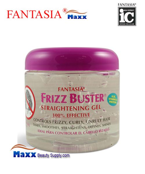 Fantasia Frizz Buster Straightening Gel 16oz - Jar