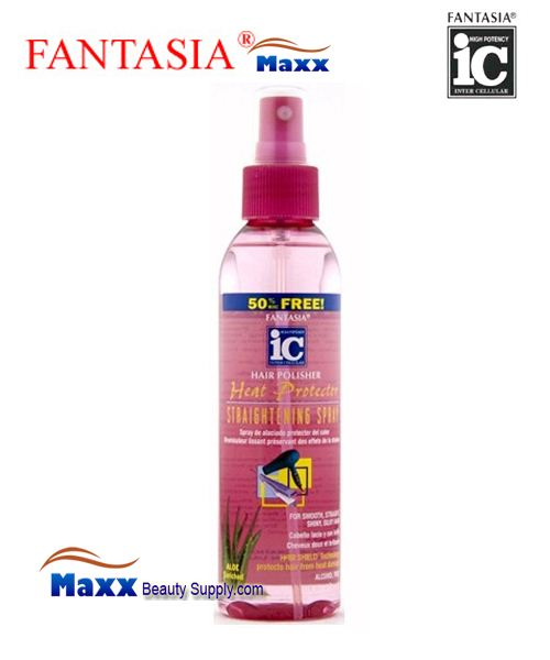 Fantasia IC Hair Polisher Heat Protector Straightening Spray 6oz - Bottle