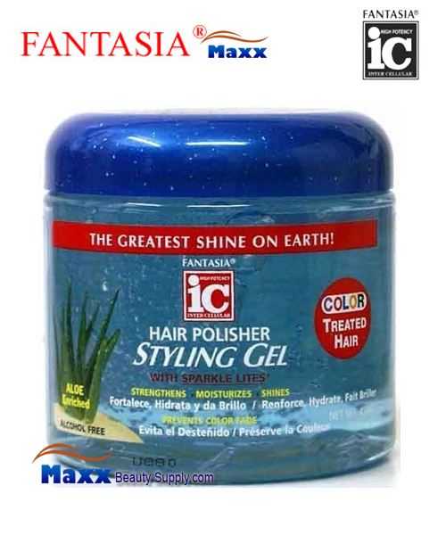 Fantasia IC Hair Polisher Styling Gel 16oz - Color Treated - Jar