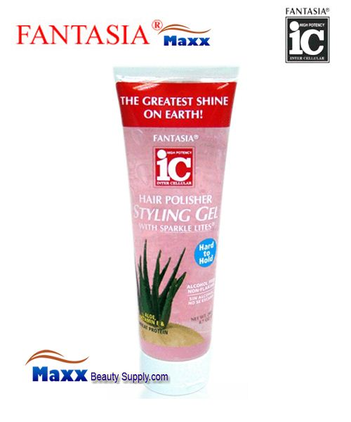 Fantasia IC Hair Polisher Styling Gel 8.7oz - Hard Hold - Tube