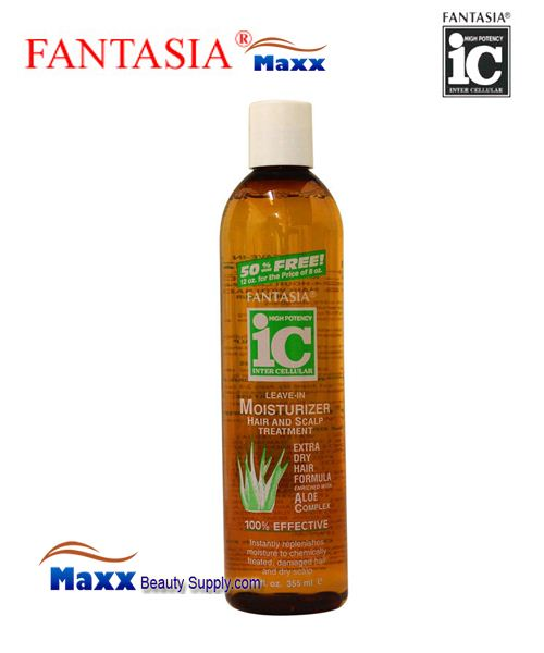 Fantasia IC Leave-In Moisturizer Hair and Scalp Treatment 12oz - Extra Dry Hair Formula