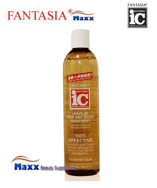 Fantasia IC Leave-In Moisturizer Hair and Scalp Treatment 12oz - For All Hair Type