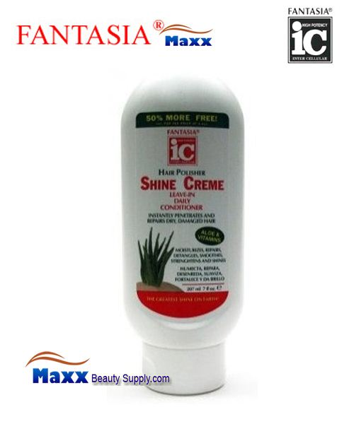 Fantasia IC Hair Polisher Shine Cream Leave in Conditioner 7oz