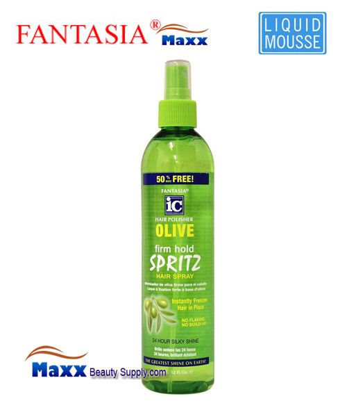 Fantasia IC Hair Polisher Olive Firm Hold Spritz 12oz - Spray