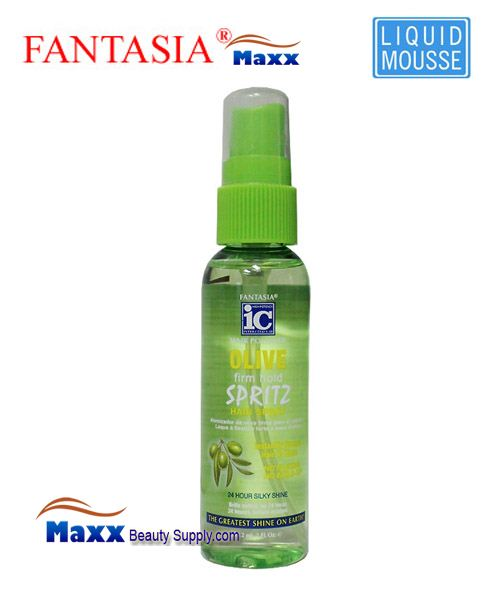 Fantasia IC Hair Polisher Olive Firm Hold Spritz 2oz - Spray