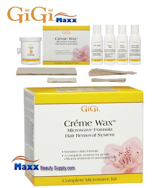 GiGi Creme Wax Microwave System Kit - Hair Removal System