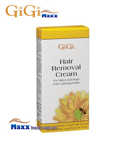 GiGi Hair Removal Cream with Balm For Bikini & Legs 2oz