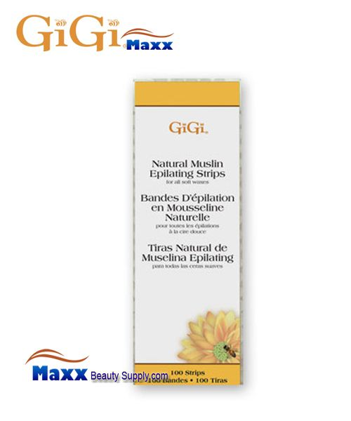 GiGi Natural Muslin Strips - Small - 100 Srips