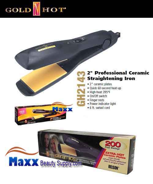 Gold N Hot #GH2143 Ceramics Straightening Flat Iron - 2""