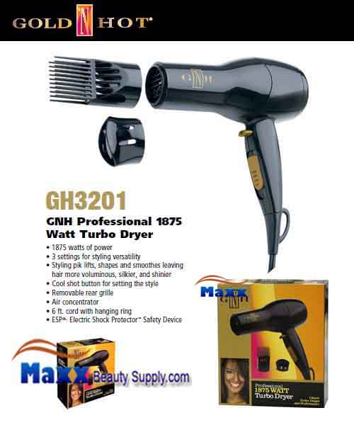 Gold N Hot #GH3201 Classic Turbo 1875W Hair Dryer