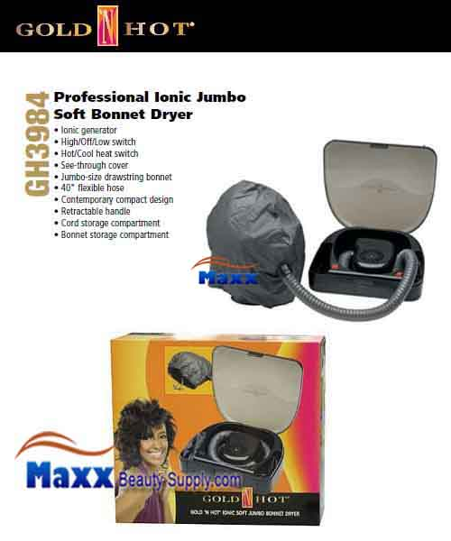 Gold N Hot #GH3984 Ionic Soft Jumbo Bonnet Hair Dryer