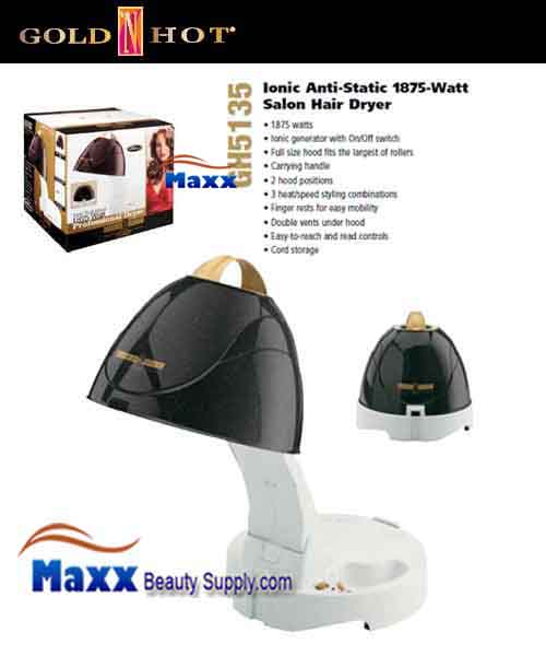 Gold N Hot #GH5135 1875W Portable Hard Bonnet Salon Dryer