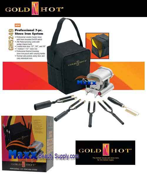 Gold N Hot #GH5249 Professional 7pc Stove Iron System