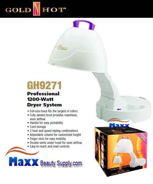 Gold N Hot #GH9271 1200W Portable Hard Bonnet Salon Dryer