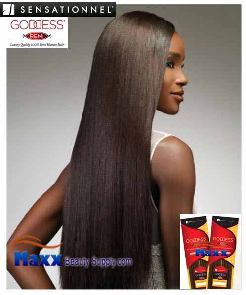 Sensationnel Goddess Remi Human Hair Weave - Yaki Wvg