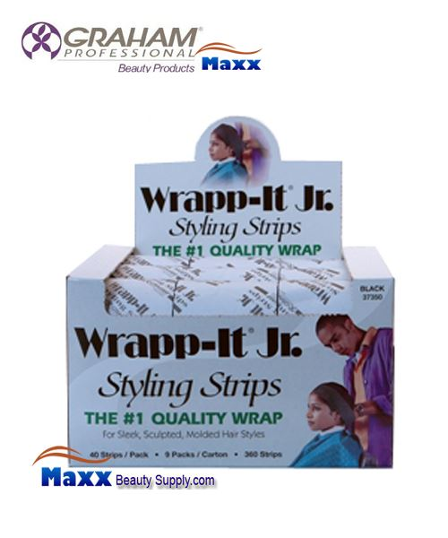 Graham Wrapp-it Jr Black Styling Strips 37350 - 1Box (9 Pack)