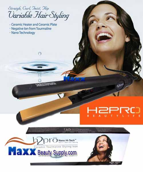 H2Pro Nano High Tech Ceramic Flat Iron 205YFI((On/Off) - 1""