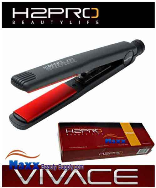H2Pro Vivace Ceramic Styling Flat Iron with Auto Shut Off - 1""