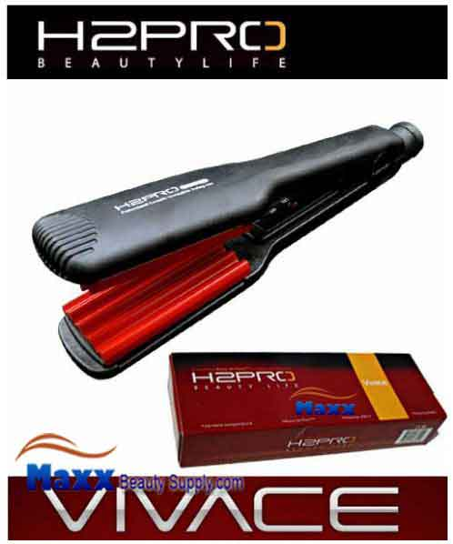 H2Pro Vivace Ceramic Styling Flat Iron Crimper - 1 3/4""