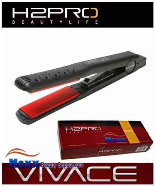 H2Pro Vivace Ceramic Styling Flat Iron Wet to Dry - 1 1/4""