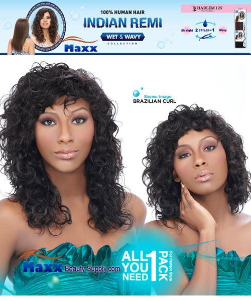 Harlem 125 5 Star Indian Remi Hair Wet Wavy Brazilian Curl 5pcs
