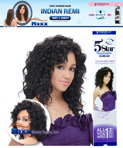 Harlem 125 5 Star Indian Remi Hair Wet & Wavy - Italian Body 5pcs