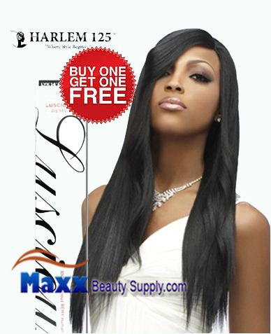 "Harlem 125 Luscious Remy Human Hair Weaving - Remy Yaki 10""(Buy 1 Get 1 Free)"