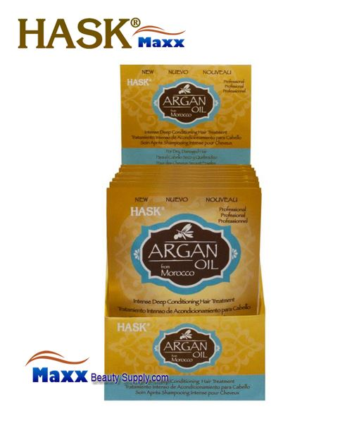 Hask Argan Oil Deep Conditioning Treatment 1.75 oz - 1Display(12 Pack)