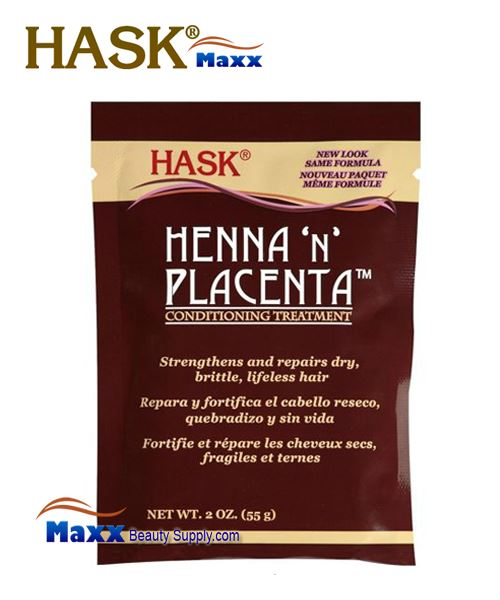Hask Henna 'n' Placenta Conditioning Treatment 2oz - Pack