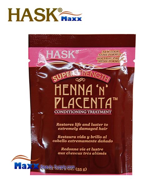 Hask Henna 'n' Placenta Super Strength Conditioning Treatment 2oz - Pack