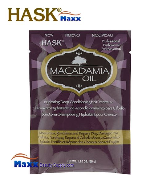 Hask Macadamia Oil Hydrating Deep Conditioning Hair Treatment 1.75oz - 1Pack