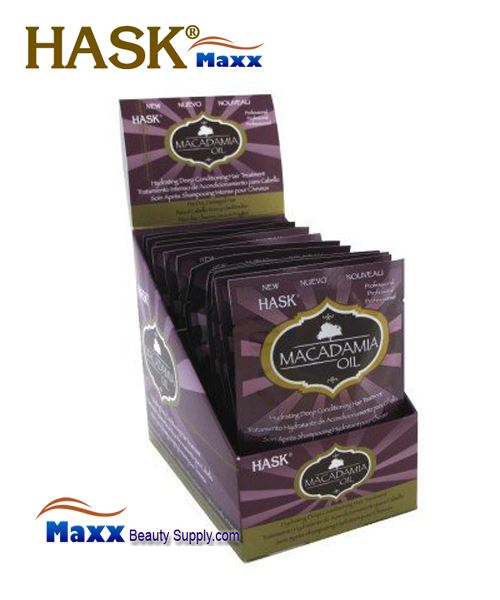 Hask Macadamia Oil Hydrating Deep Conditioning Hair Treatment 1.75oz - 1 Display(12 Pack)